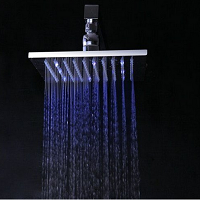 Temperature Sensitive LED Faucet Light Review - Yanksmart 8'' Shower Head Faucet