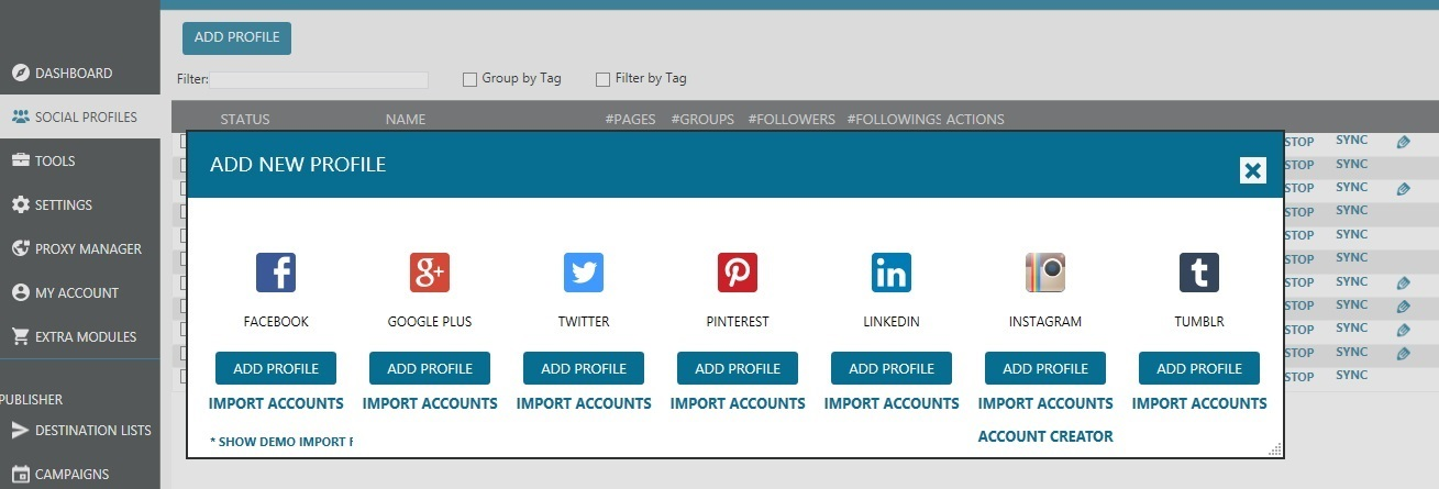 Mass Planner Supported Social Networks